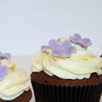 choco cup cakes close up